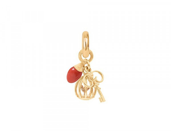 Ole Lynggaard Charm Anhänger Sweet Drops Gelbgold rote Koralle A2567-402