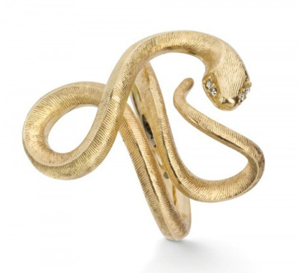Ole Lynggaard Ring Snakes Gelbgold A2674-401