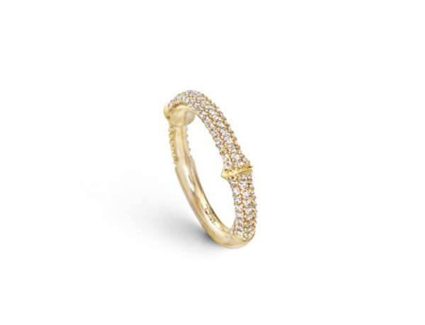Ole Lynggaard Ring Nature Gelbgold Halb-Pavé A2690-401