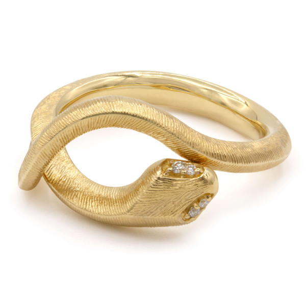 Ole Lynggaard Ring Snakes Gelbgold Diamant A2672-401
